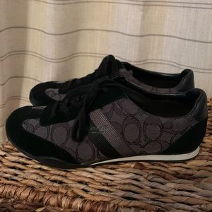 Coach Black & Gray Signature C Pattern Sneakers